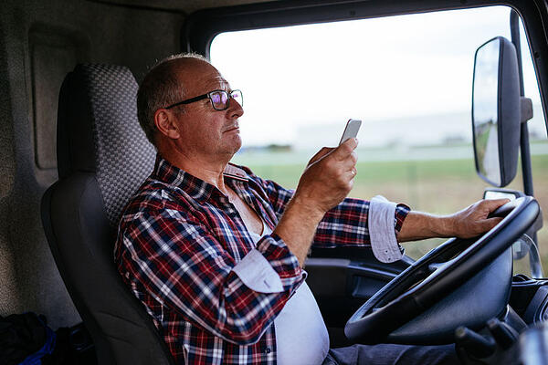 Truck driver texting