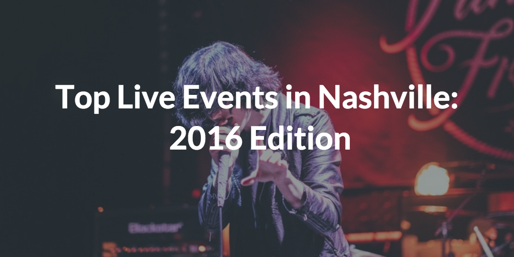 live events in nashville